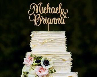 Wedding Cake Topper Personalized Names Cake Topper Custom Cake Topper Wood Cake Topper Silver Cake Topper Gold Cake Topper