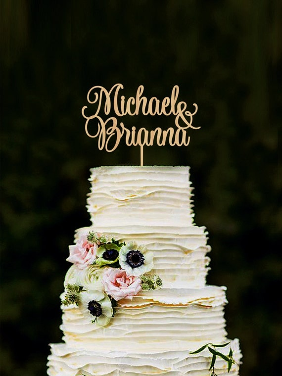 names of wedding cakes wedding cake topper personalized names cake topper custom cake 17701