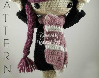 Miriam - Amigurumi Doll Crochet Pattern PDF
