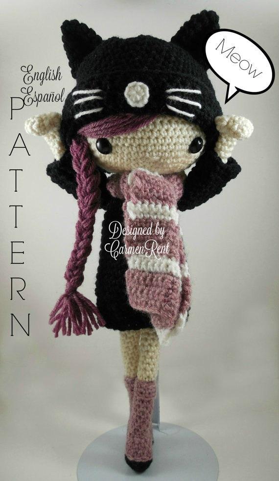 Amigurumi Doll Crochet Patterns : Miriam Amigurumi Doll Crochet Pattern PDF
