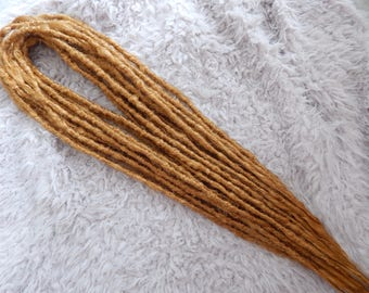 Synthetic Crocheted Dreadlock Extensions | Single and Double Ended | Honey