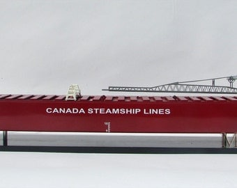 Thunder Bay Canada Steamship Lines Display Model - St. Lawrence River Freighter