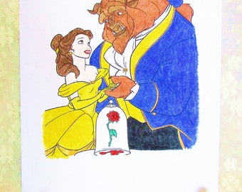 Beauty and the Beast Blank Card: Add a Greeting or Leave Blank