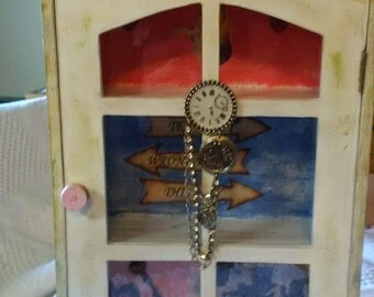 Recycled Small Curio/Jewelry Box for Girl
