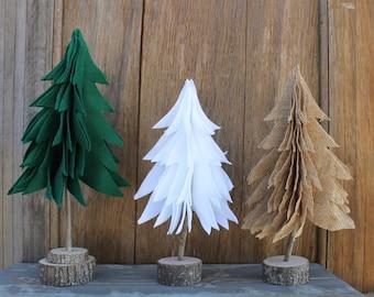 Mini Christmas Trees, Christmas Decor, Holiday Decor, Felt Christmas Trees, Christmas Decorations, Mini Tree Decor, Christmas Mantel