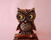 Owl #18   Vintage   Wood   Painted   The Owl Collection