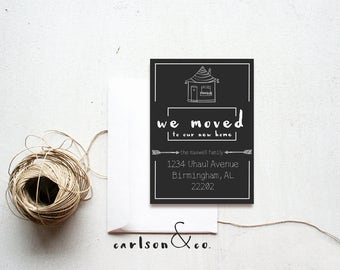 We Moved Announcement | 5x7 Announcement | Digital Printable