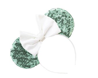 Mint Sequin Mouse Ears