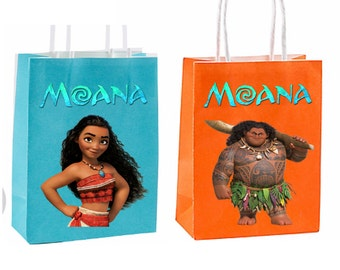 Moana Party Favor Bag  Birthday Party Inspired Decorations & Decor instant download