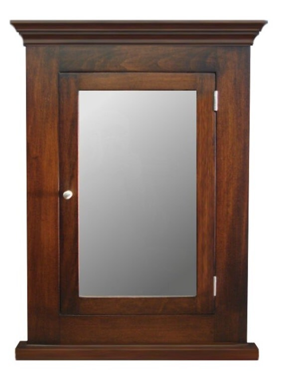 dark walnut recessed medicine cabinet mirror michelle. Black Bedroom Furniture Sets. Home Design Ideas