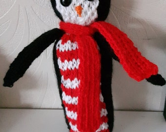 Percy Penquin Hand Knitted