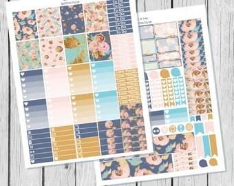 Blush Floral Planner Sticker Printable / Sticker Printable / Printable Planner Stickers / Weekly Planner Sticker Kit