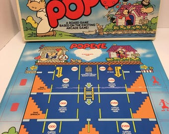 Popeye Board Game 1983 Parker Brothers