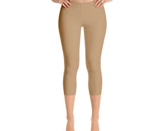 Capris - Camel Leggings, Yoga Pants for Women, Stretchy Yoga Leggings