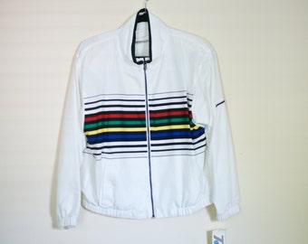 SALE! Vintage Rainbow Bomber Jacket - Vintage with Tags Small - Tail Tennis