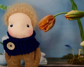 """Waldorfpuppe - 27 cm """"The little Nick!"""" doll, Steiner doll, OOAK - doll, doll, doll for boys"""