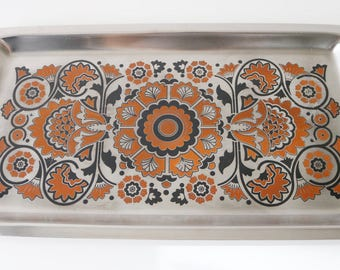 Viners 1970s stainless steel tray by Gerald Benney