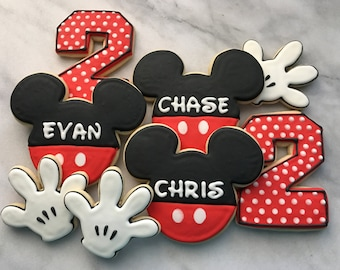 Mickey Mouse Inspired Birthday Cookies