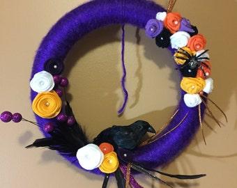 Festive handmade Halloween wreath to brighten any haunts