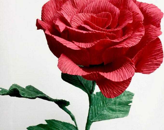 Single Paper Flower Rose