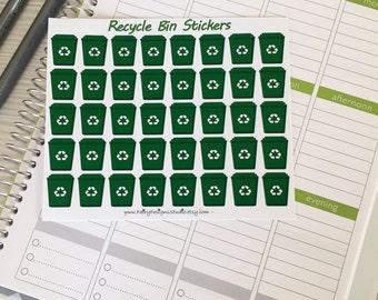 Recycle Bin Planner Stickers