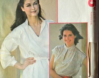 Uncut 1970s McCall's Vintage Sewing Pattern 6029, Size 16; Misses' Blouse