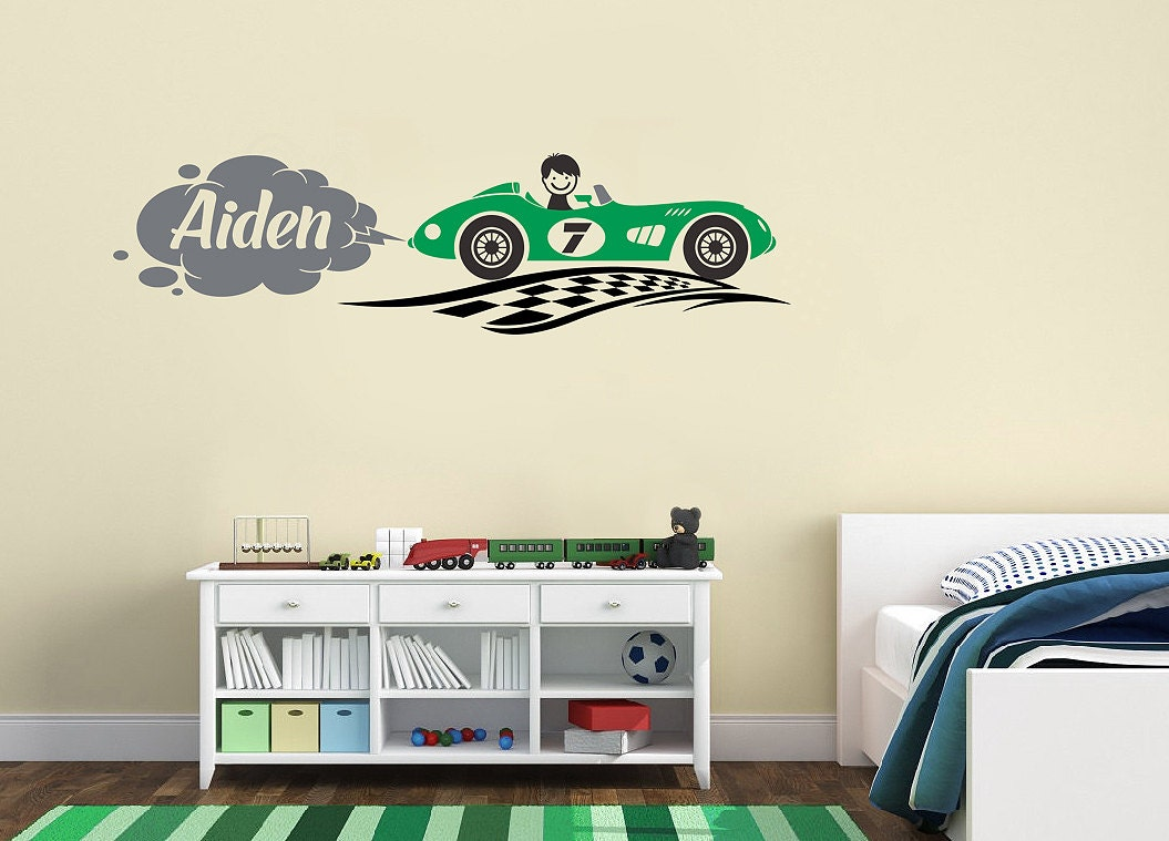 Race car transportation theme personalized name custom zoom amipublicfo Gallery