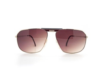 Genuine 1980s Zeiss 5989 Red Tinted Aviator Vintage Sunglasses // Made in Austria // New Old Stock
