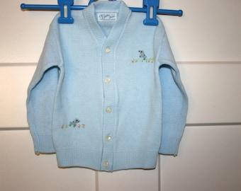 Julius Berger Sweater//Baby Boy Sweater//Embroidered Sweater//Vintage Baby Boy Sweater