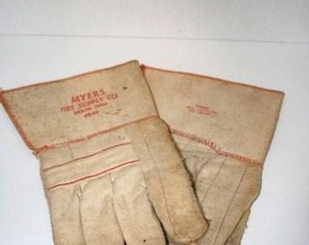 Advertising Work Gloves//All Cotton Gloves//Garden Gloves//Vintage Gloves