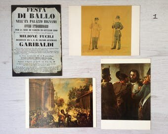 Italian military vintage postcards of the Civic Museum in Bologna