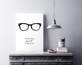 Cubicle Sweet Cubicle art print - Office art - Printable men gift - Cubicle wall art - Office decor - Cubicle decor - Minimalist art