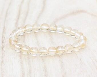 CITRINE ABUNDANCE BRACELET. Success Bracelet with Reiki Energy. Prosperity Bracelet, Grounds Negative Energy. Yellow Bracelet. Gift for Her
