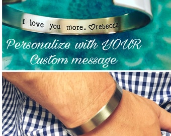 Personalized Mens Bracelet Long Distance Boyfriend Gift Long Distance Relationship First Father Day Gift Groomsmen Gift Mens Birthday Gift
