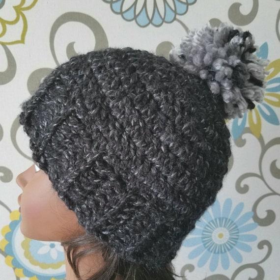 Mens Hat Crochet Pattern Chunky Yarn : Crochet hat chunky hat mens hat womens hat chunky yarn