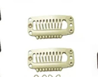 Blonde DIY Clips for Clip in Extensions 10pcs   E41