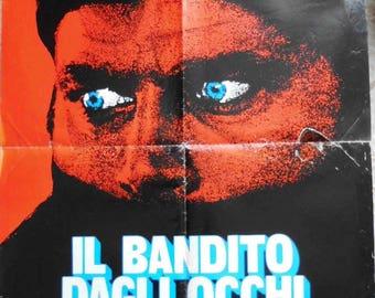"Rogers fotobusta ""the blue-eyed bandit"". Starring Franco Nero, Dalila Di Lazzaro. Policial years 80. Original poster. 1980"