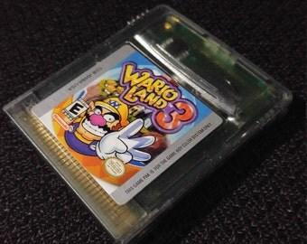 Wario Land 3 Nintendo Gameboy cartridge video game