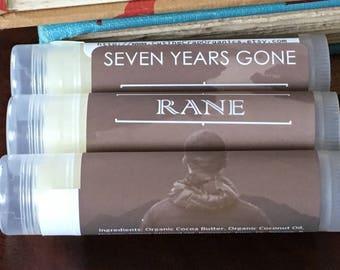 Seven Years Gone - Custom Ginger & Rane Lip Balms (Bulk Price Listing)