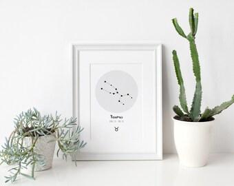 Taurus Zodiac Constellation Print