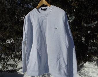Sweet 90s Club Monaco Sweatshirt Minamilist White Vintage Sweatshirt Oversized Club Monaco Size Medium 90s Fit Comfy Sweatshirt