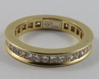 Ladies 18K Yellow Gold Diamond Eternity Ring SIZE 7