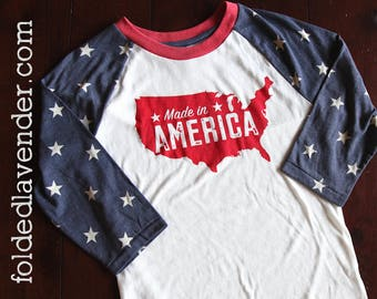 MADE iN AMERICA Stars & Stripes, USA, Merica, Murica, God bless the USa, 4th of July, Memorial Day,Proud to be an American, Independence Day
