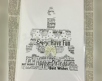birthday cards, personalised cards, word art, occasion card, wedding cards, valentines cards, mothers day cards, christmas cards,