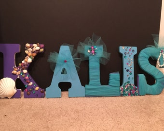 Custom Little mermaid decorative letters