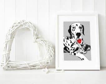 Custom dog wall art, custom pet PORTRAIT from photo, custom pet wall art, bespoke dog art, portraits of my dog, digital pet painting