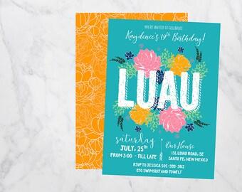 Luau invitation, luau birthday invitation, luau party, luau party invitation, luau invitations, luau party invitations, luau birthday party