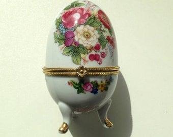Porcelain Egg Trinket Box
