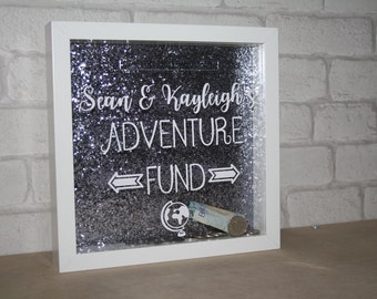 adventure money box / saving adventure fund / adventure fund / saving money box frame / saving frame for holiday