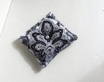 Lavender Herbal Pillow, Gray Aromatherapy Desk Pillow, Herbal Desk Pillow, Scented Desk Pillow, Stocking Stuffer, Lavender Pillow
